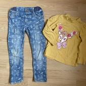 Одним лотом джинсы и реглан в очень хорошем состоянии
