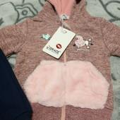Утеплённый костюм тройка для девочки!Grace (Венгрия)! Размер: 80-86см!