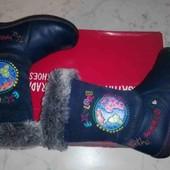 Шкіряні чобітки демісезонні + курточка в подарунок