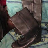 сапоги кожаные 38р серые