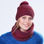 ☘ Тепла в'язана шапка на флісі Tchibo (Німеччина), розмір універсальний