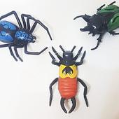 Игрушка 3 шт. насекомое Бойцовские жуки ,силиконовые. Уценка, без батареек и внутреннего содержимого
