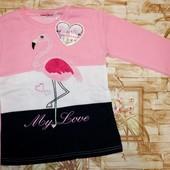 Модный свитшот с начесом для девочек 134-164 р