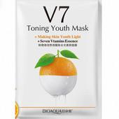 Тканевая маска для лица с экстрактом апельсина и витаминами bioaqua 30 мл