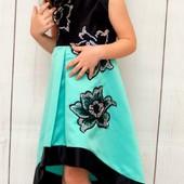 Новое, шикарное праздничное платье на р. 116-122