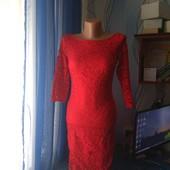 Нарядное кружевное платье на подкладке, р.XS