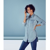 Удлиненная джинсовая рубашка Есмара р.38 евро