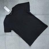 Однотонная черная футболка Pepco на рост 158-164! хлопок!