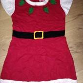 Платье новогоднее. 4-5лет замеры на фото