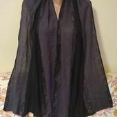 серо чорный шарф