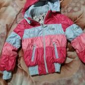 Шикарная осенняя курточка девочке в отличном состоянии