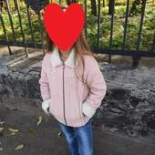 Роскошная куртка дубленка 6-9 л смотрите замеры в идеале