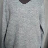 Серый свитер из акрила