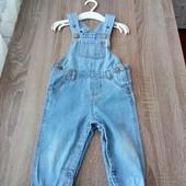 Стоп!!фирменный стильный натуральный красивый джинсовый полукомбинезон