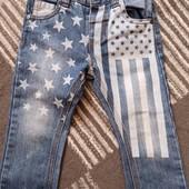 Моднячие джинсы Next в звездах 12-18 месяцев