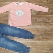 Кофта і джинси для дівчинки на 4 рочки