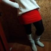 Хит сезона!!!!ярко красная мини юбка