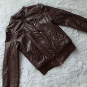 Курточка теплая с эко-кожи
