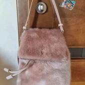 Меховая сумка-рюкзак Zara,оригинал