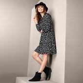 Комфортное платье из вискозы - в ромашку от Tchibo размер евро 40/42 ( укр 46/48)