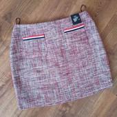 Юбка с ткани букле со стильными карманами, M&S, p. L