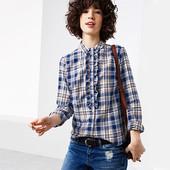 Тепленькая блузка-рубашка фланель из био- хлопка от Tchibo(германия) размер 38 евро=44