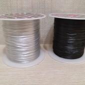 2 бобины шнур-резинка для плетения бус, брастов, брошек и других украшений, цвет как на фото