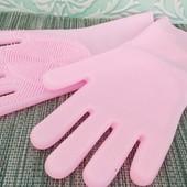 Силиконовые многофункциональные перчатки для мытья и чистки | Cиликоновые перчатки | Мочалка