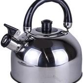 Чайник А-Плюс wk 1321 металлический 2.5л со свистком   Чайник А-Плюс 1324  