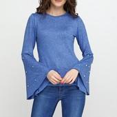 ❣Серо-голубой демисезонный свитер джемпер Miss Blue