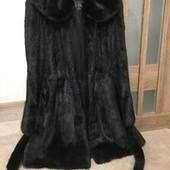 Натуральная Норковая шуба из элитной Норки с капюшоном.