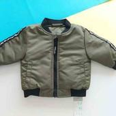 Куртка бомбер на меху от Primark 9-24мес