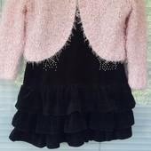 Велюровое платье с болеро-пушистик !!!