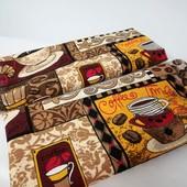 Coffee Набор красивых хлопковых полотенец для кухни, для дома!