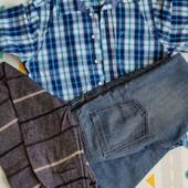 Лот джинсы, тенниска, свитер р.S