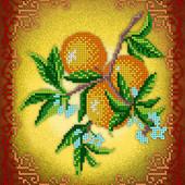 """Схема для вишивки натюрморт """"Фрукти:апельсини"""" як варіант вишивка для кухні"""