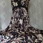 шелковистое платье с фатином
