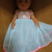 Платье на куклу Рост 43-45 см новое 1 шт на выбор