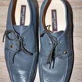 Больше 100 лотов! 28 см. Кожа. Фирменные мокасины туфли. Отличное состояние!