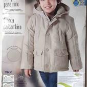 Куртка бежевая теплая lupilu р.110, р.116