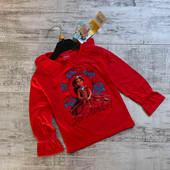 Нарядная красная кофточка реглан на девочку от disney размер на 4 годика рост 104см.