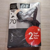 Германия! Женские капроновые колготы! 70 Ден! Черный цвет! 11,80€ по ценнику! 2 пары в упаковке! М!