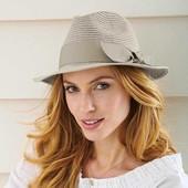 Женская шляпа с металлизированной нитью серая tcm Tchibo Германия