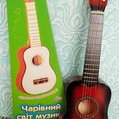Детская гитара Децкая деревянная гитара 6 струн Дитяча гітара