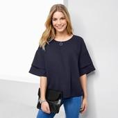 ☘ Стильная рубашка с тканой вставкой, Tchibo(Германия), наши размеры: 42-46 (36/38 евро)
