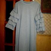Качество! Стильное платье/свободный прямой крой, в отличном состоянии, готовимся к осени.