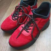 Утеплённые кроссовки, натур.замша