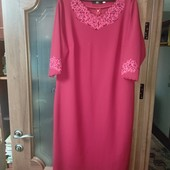 Червоного кольору платтячко, 58 розмір