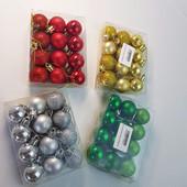 Набор елочных игрушек , шаров 3 см, 12 штук