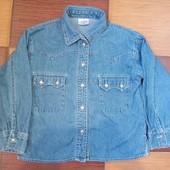 Джинсовая рубашка размер 104